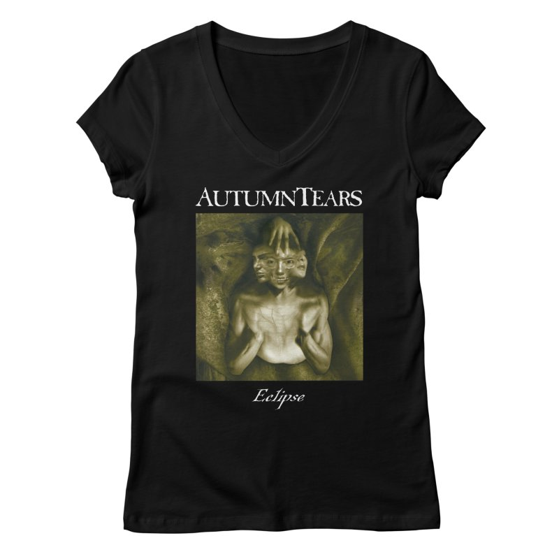 AUTUMN TEARS - Eclipse (Variant) Women's Regular V-Neck by DARK SYMPHONIES / THE CRYPT Apparel