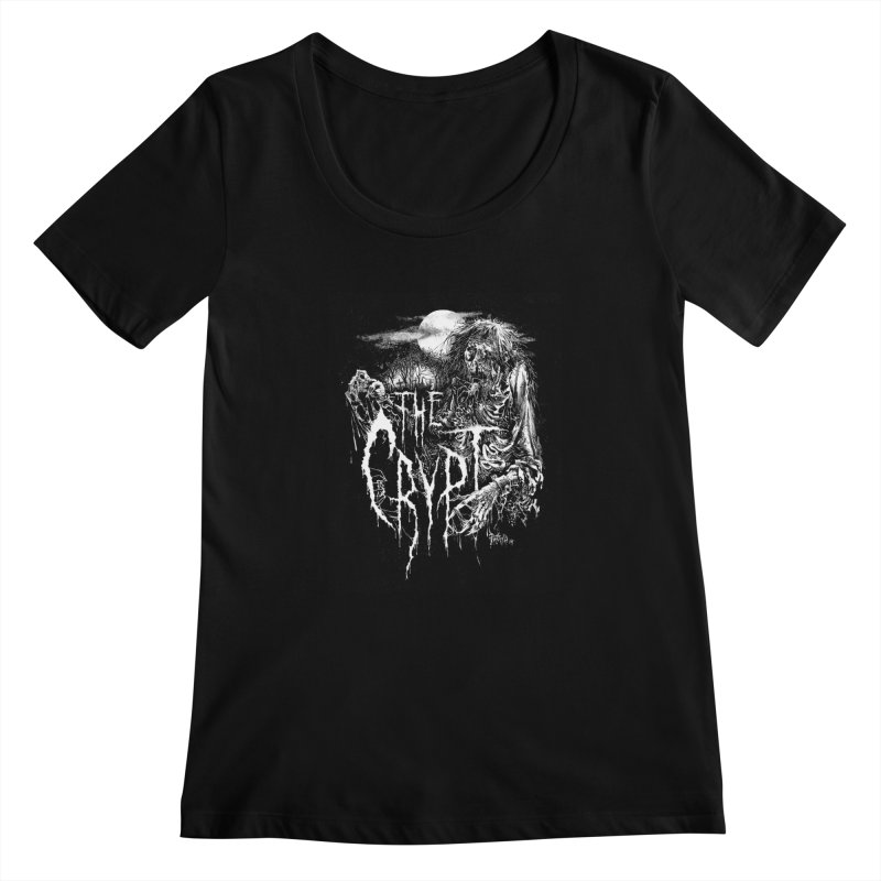 THE CRYPT (Label Logo) Women's Scoopneck by DARK SYMPHONIES / THE CRYPT Apparel