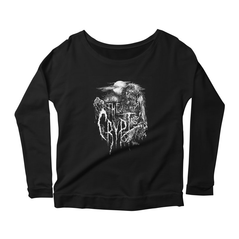 THE CRYPT (Label Logo) Women's Scoop Neck Longsleeve T-Shirt by DARK SYMPHONIES / THE CRYPT Apparel