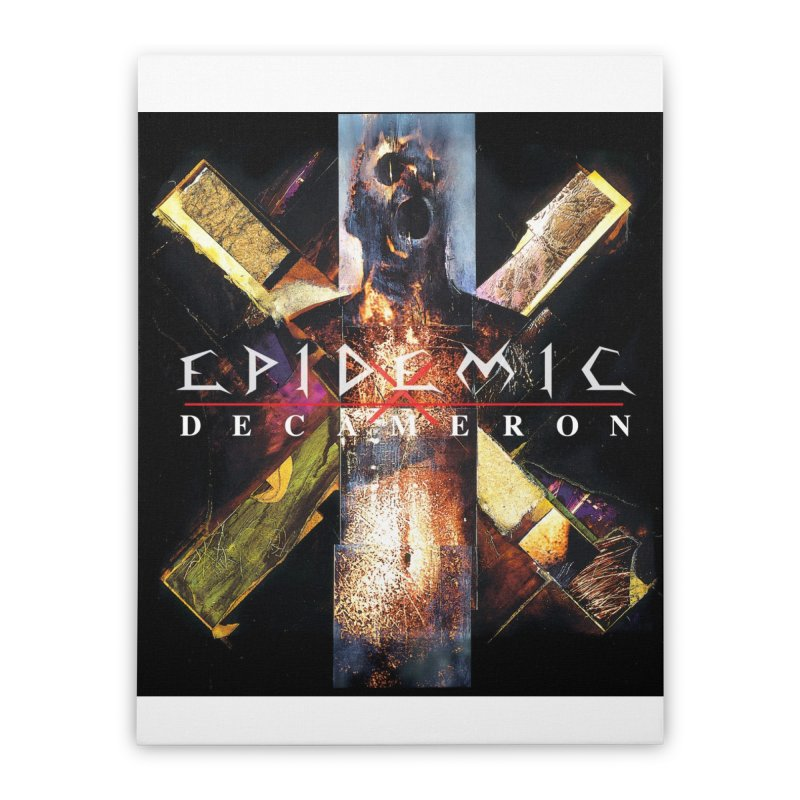 EPIDEMIC - Decameron Home Stretched Canvas by DARK SYMPHONIES / THE CRYPT Apparel
