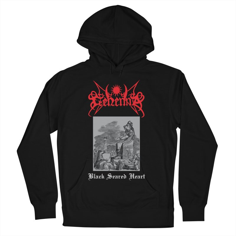 GEHENNA - Black Seared Heart Men's Pullover Hoody by DARK SYMPHONIES / THE CRYPT Apparel