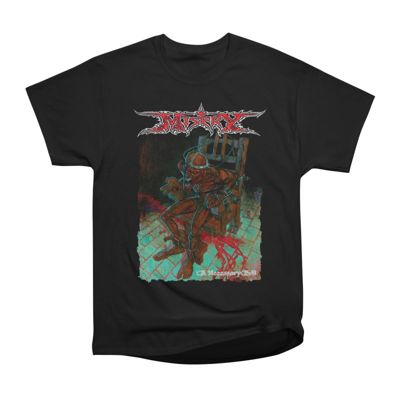 MISERY - A Necessary Evil Men's Heavyweight T-Shirt by DARK SYMPHONIES / THE CRYPT Apparel