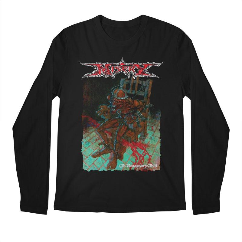 MISERY - A Necessary Evil Men's Longsleeve T-Shirt by DARK SYMPHONIES / THE CRYPT Apparel