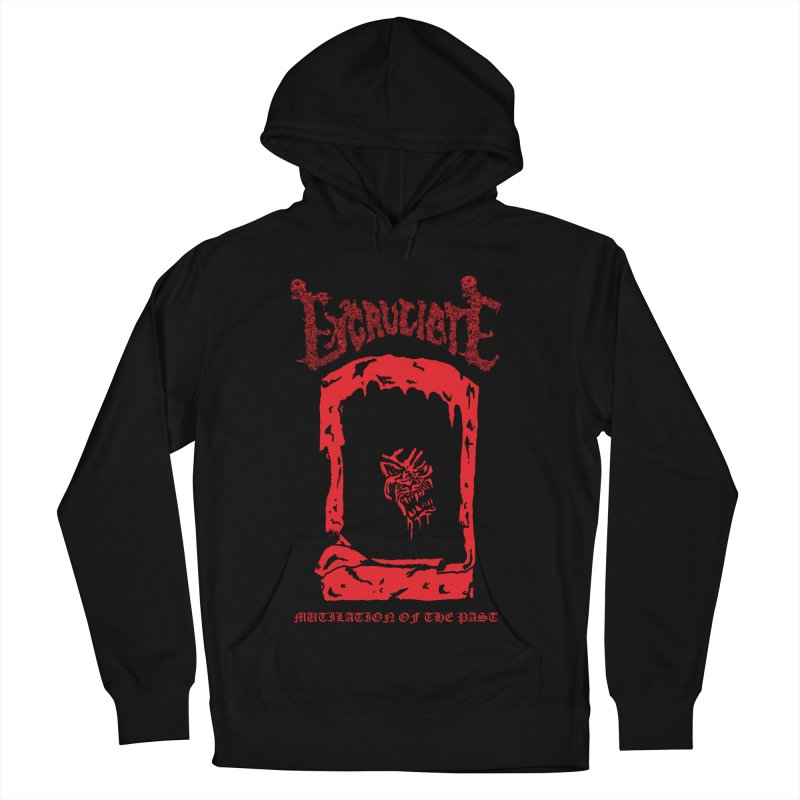 EXCRUCIATE - Mutilation Of The Past (Variant) Men's French Terry Pullover Hoody by DARK SYMPHONIES / THE CRYPT Apparel