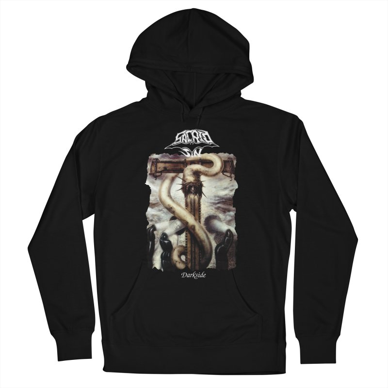 SACRED SIN - Darkside (Black Shirt) Men's French Terry Pullover Hoody by DARK SYMPHONIES / THE CRYPT Apparel