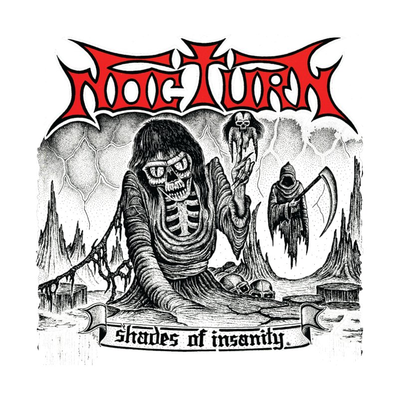 NOCTURN - Shades of Insanity Home Blanket by DARK SYMPHONIES / THE CRYPT Apparel