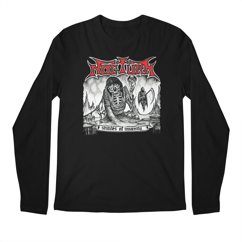 NOCTURN - Shades of Insanity Men's Regular Longsleeve T-Shirt by DARK SYMPHONIES / THE CRYPT Apparel