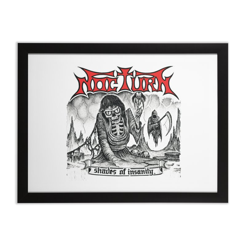 NOCTURN - Shades of Insanity Home Framed Fine Art Print by DARK SYMPHONIES / THE CRYPT Apparel
