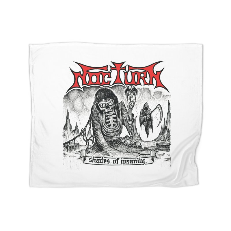 NOCTURN - Shades of Insanity Home Fleece Blanket Blanket by DARK SYMPHONIES / THE CRYPT Apparel