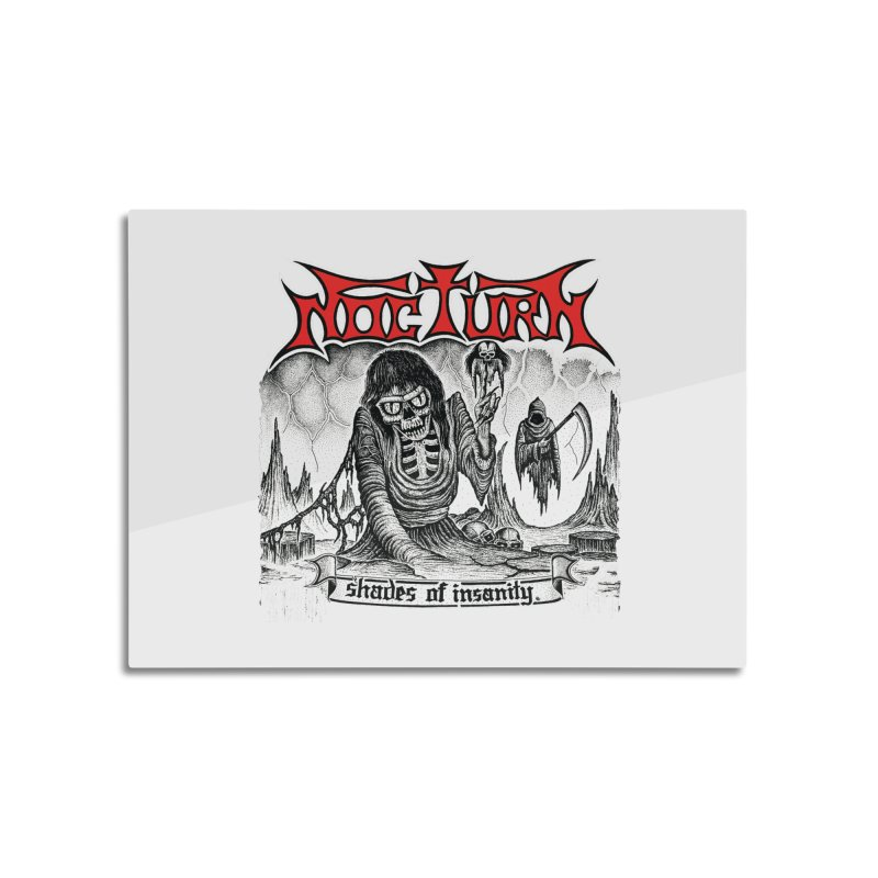 NOCTURN - Shades of Insanity Home Mounted Aluminum Print by DARK SYMPHONIES / THE CRYPT Apparel
