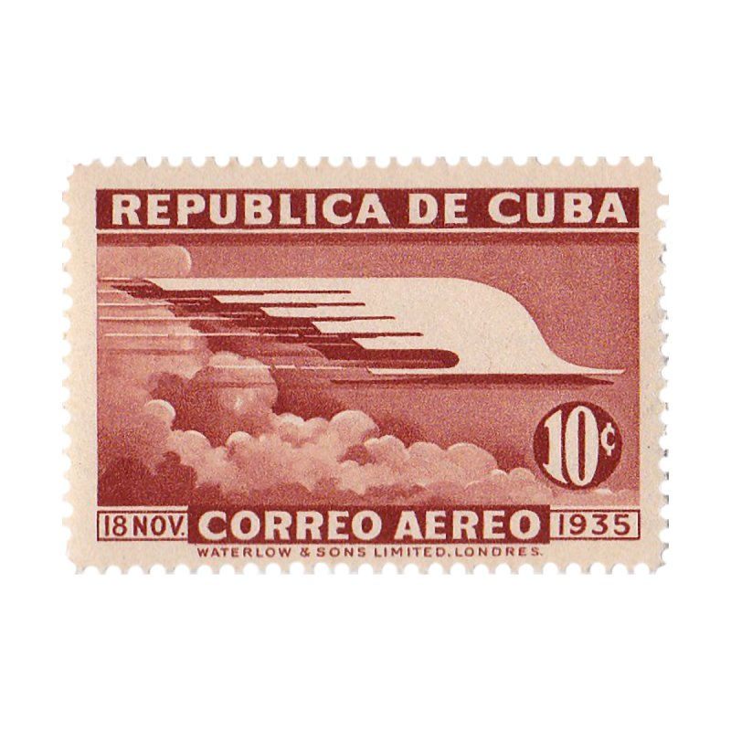 Cuba Vintage Stamp Art 1935 Accessories Bag by The Cuba Travel Store Artist Shop