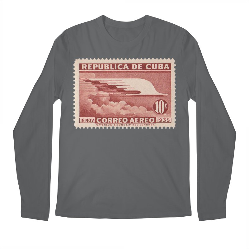 Cuba Vintage Stamp Art 1935 Men's Longsleeve T-Shirt by The Cuba Travel Store Artist Shop