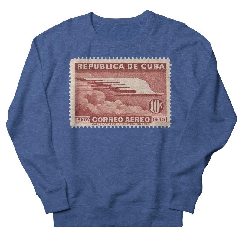 Cuba Vintage Stamp Art 1935 Men's Sweatshirt by The Cuba Travel Store Artist Shop