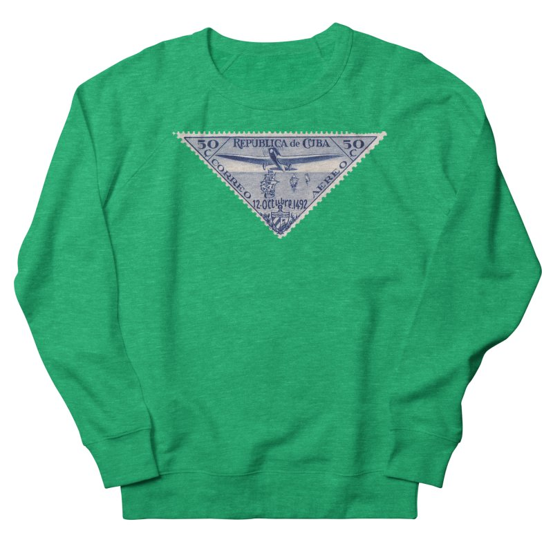 Cuba Vintage Stamp Art 1935 Women's Sweatshirt by The Cuba Travel Store Artist Shop