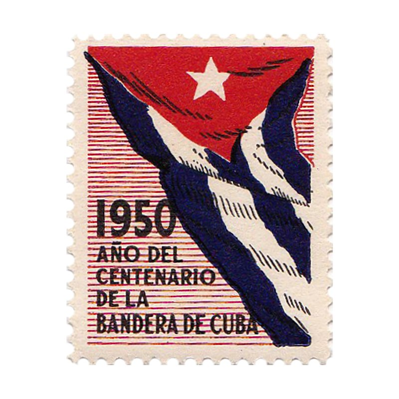 Cuba Vintage Stamp Art 1950 Men's V-Neck by The Cuba Travel Store Artist Shop
