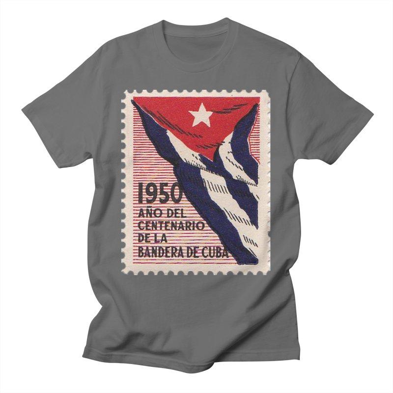 Cuba Vintage Stamp Art 1950 Men's T-Shirt by The Cuba Travel Store Artist Shop
