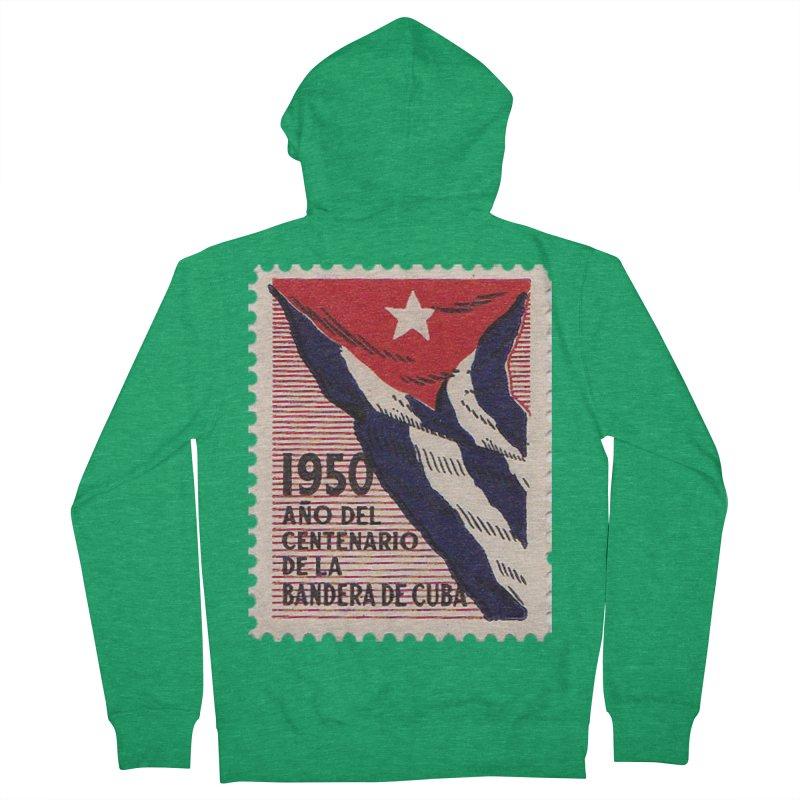 Cuba Vintage Stamp Art 1950 Men's Zip-Up Hoody by The Cuba Travel Store Artist Shop