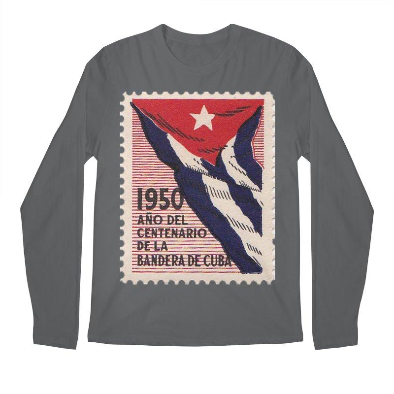 Cuba Vintage Stamp Art 1950 Men's Longsleeve T-Shirt by The Cuba Travel Store Artist Shop