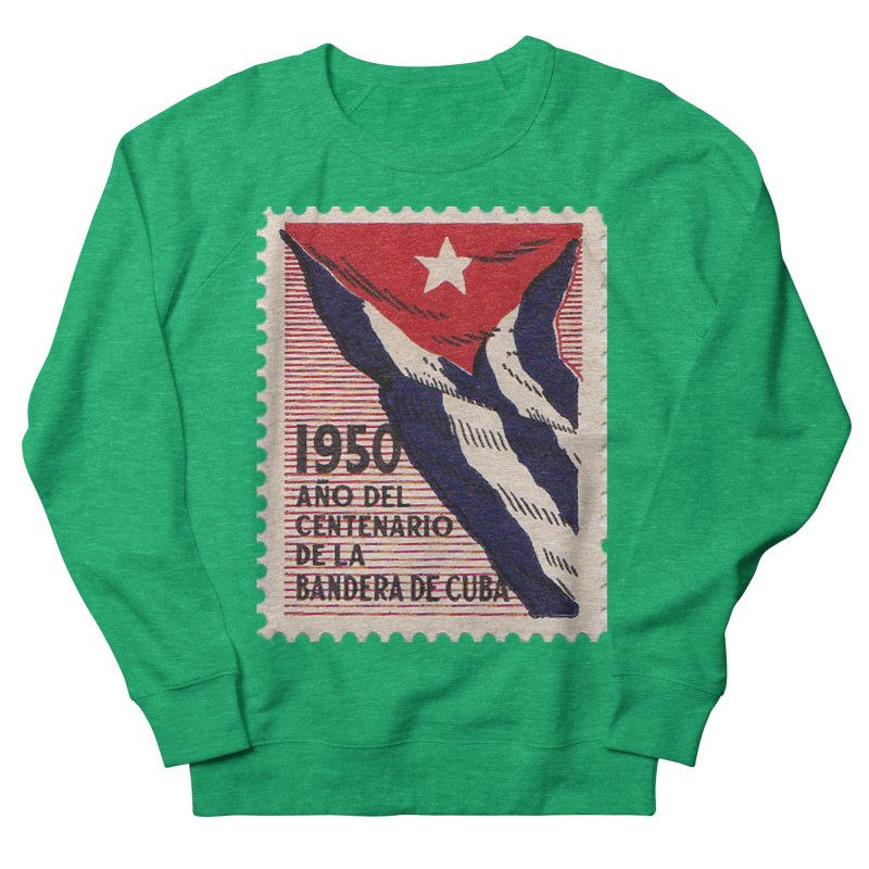 Cuba Vintage Stamp Art 1950 Men's Sweatshirt by The Cuba Travel Store Artist Shop