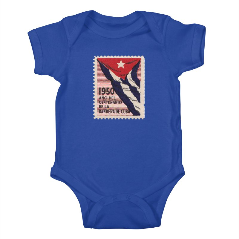 Cuba Vintage Stamp Art 1950 Kids Baby Bodysuit by The Cuba Travel Store Artist Shop