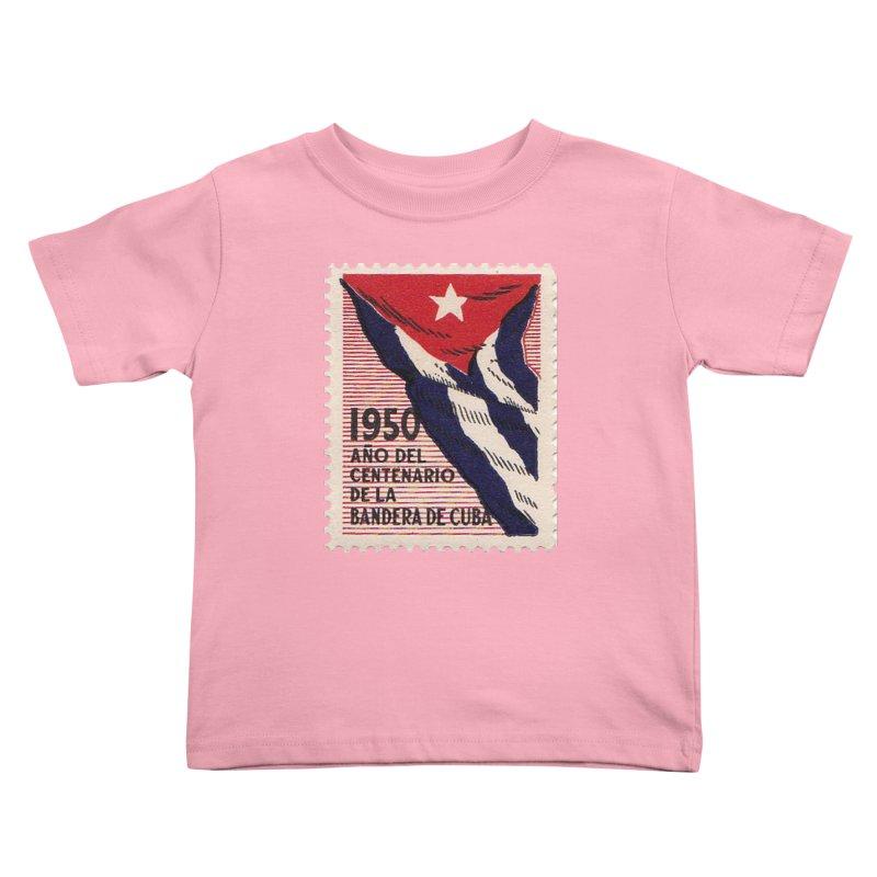 Cuba Vintage Stamp Art 1950 Kids Toddler T-Shirt by The Cuba Travel Store Artist Shop