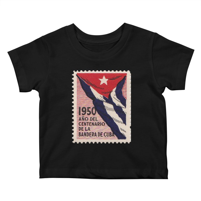 Cuba Vintage Stamp Art 1950 Kids Baby T-Shirt by The Cuba Travel Store Artist Shop