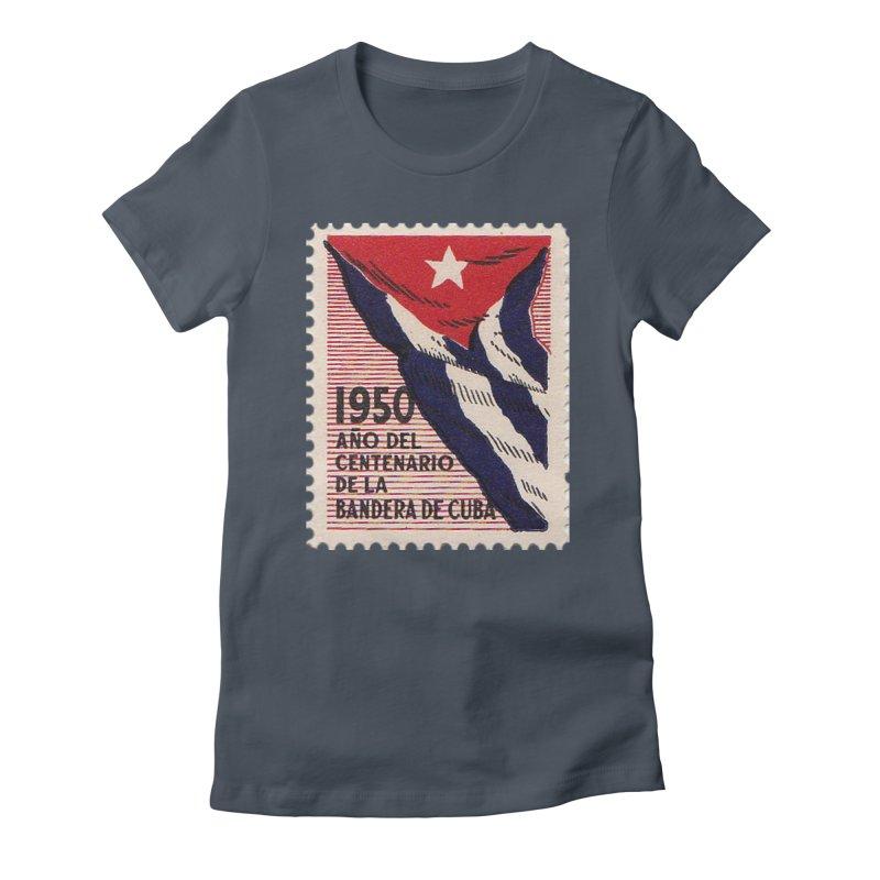 Cuba Vintage Stamp Art 1950 Women's T-Shirt by The Cuba Travel Store Artist Shop