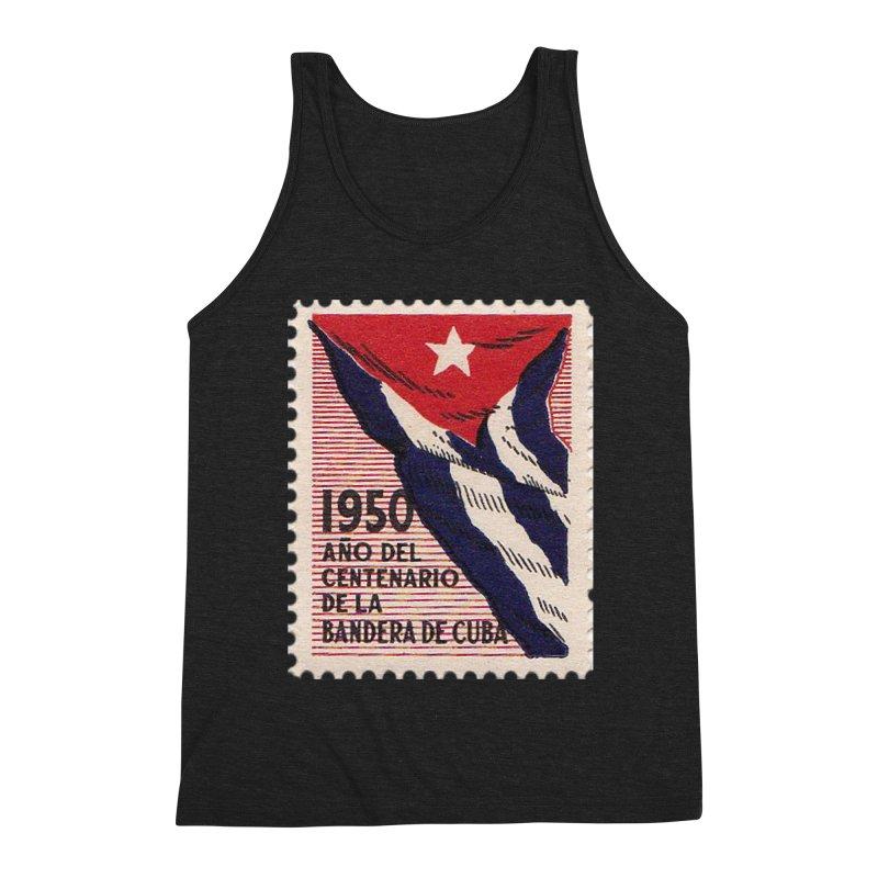 Cuba Vintage Stamp Art 1950 Men's Tank by The Cuba Travel Store Artist Shop