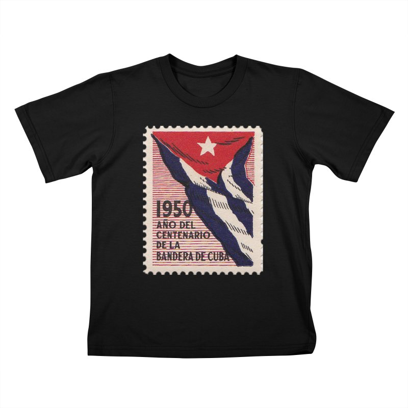 Cuba Vintage Stamp Art 1950 Kids T-Shirt by The Cuba Travel Store Artist Shop
