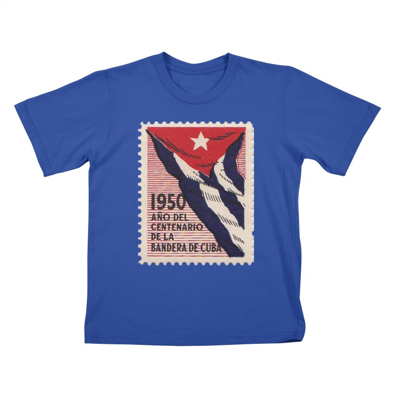 Cuba Vintage Stamp Art 1950 Kids T-Shirt by The Cuba Travel Store Artist Shop