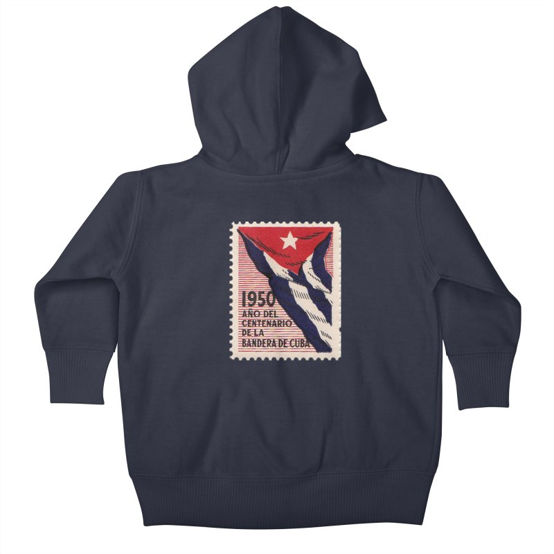 Cuba Vintage Stamp Art 1950 Kids Baby Zip-Up Hoody by The Cuba Travel Store Artist Shop