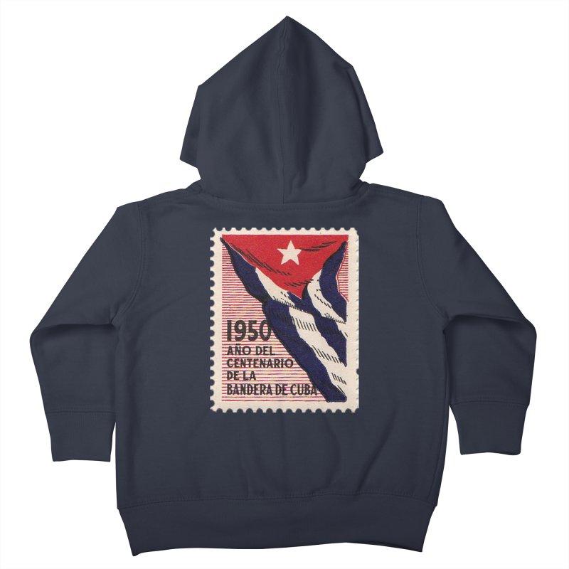 Cuba Vintage Stamp Art 1950 Kids Toddler Zip-Up Hoody by The Cuba Travel Store Artist Shop