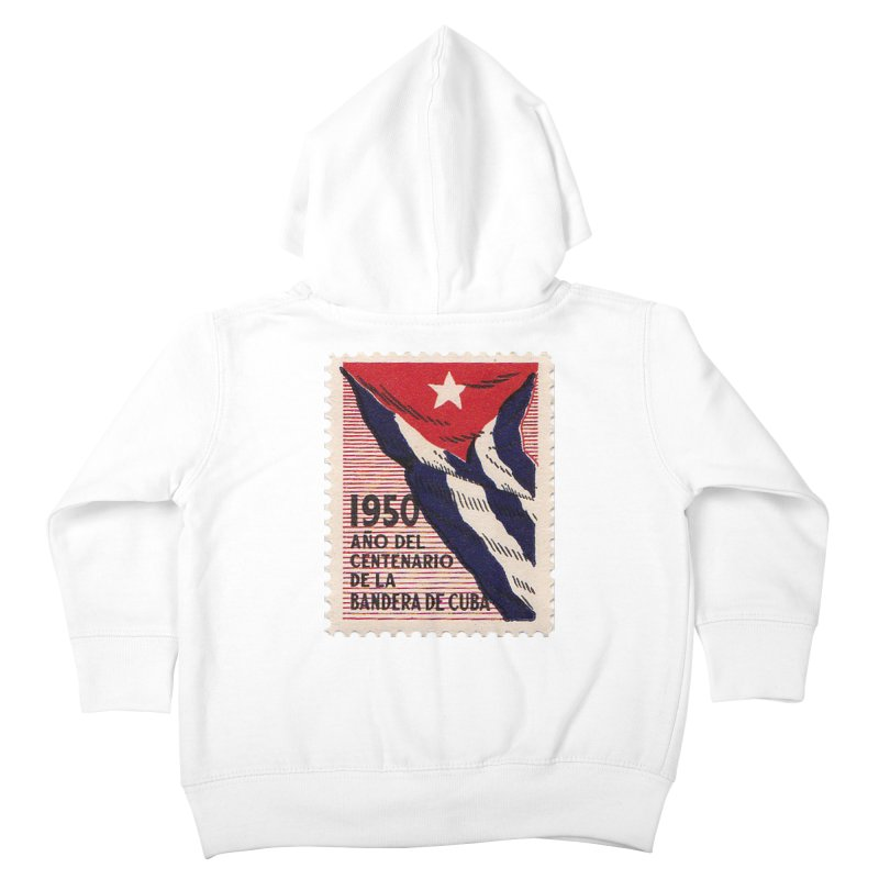 Cuba Vintage Stamp Art 1950 Kids Toddler Zip-Up Hoody by The Cuba Travel Store Artist Shop