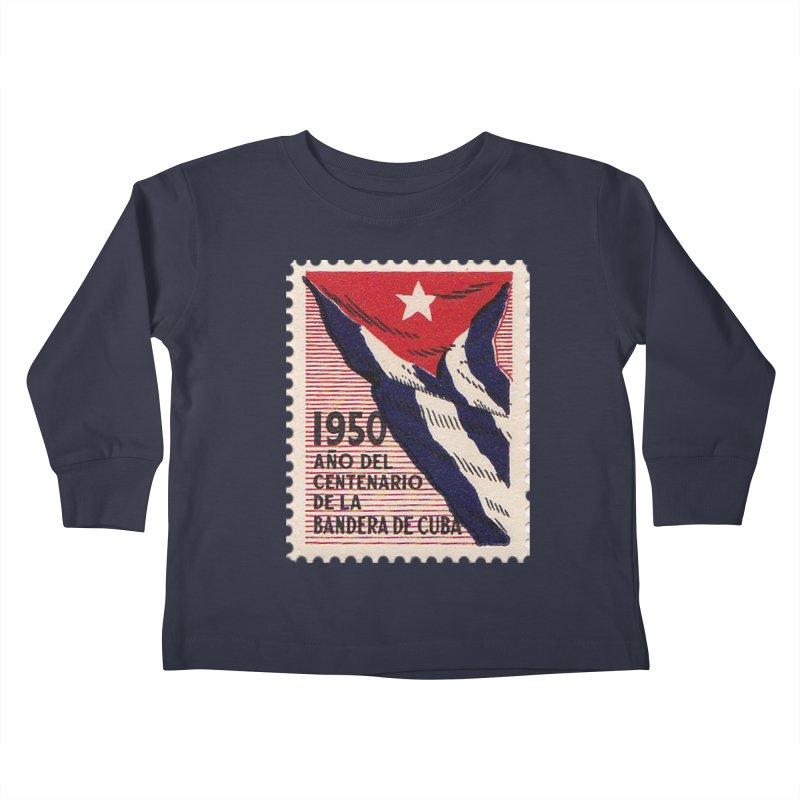 Cuba Vintage Stamp Art 1950 Kids Toddler Longsleeve T-Shirt by The Cuba Travel Store Artist Shop