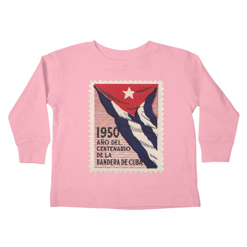 Cuba Vintage Stamp Art 1950 Kids Toddler Longsleeve T-Shirt by The Cuba Travel Store Artist Shop