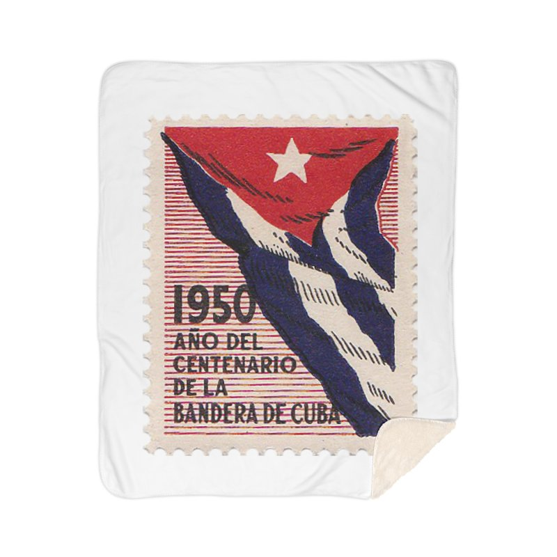 Cuba Vintage Stamp Art 1950 Home Blanket by The Cuba Travel Store Artist Shop