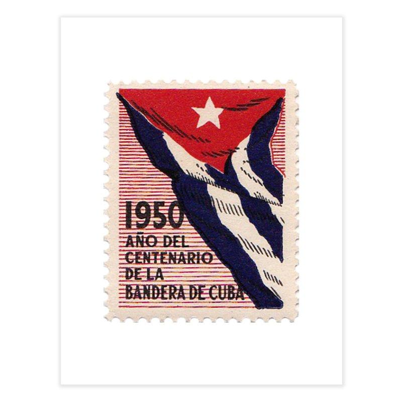 Cuba Vintage Stamp Art 1950 Home Fine Art Print by The Cuba Travel Store Artist Shop