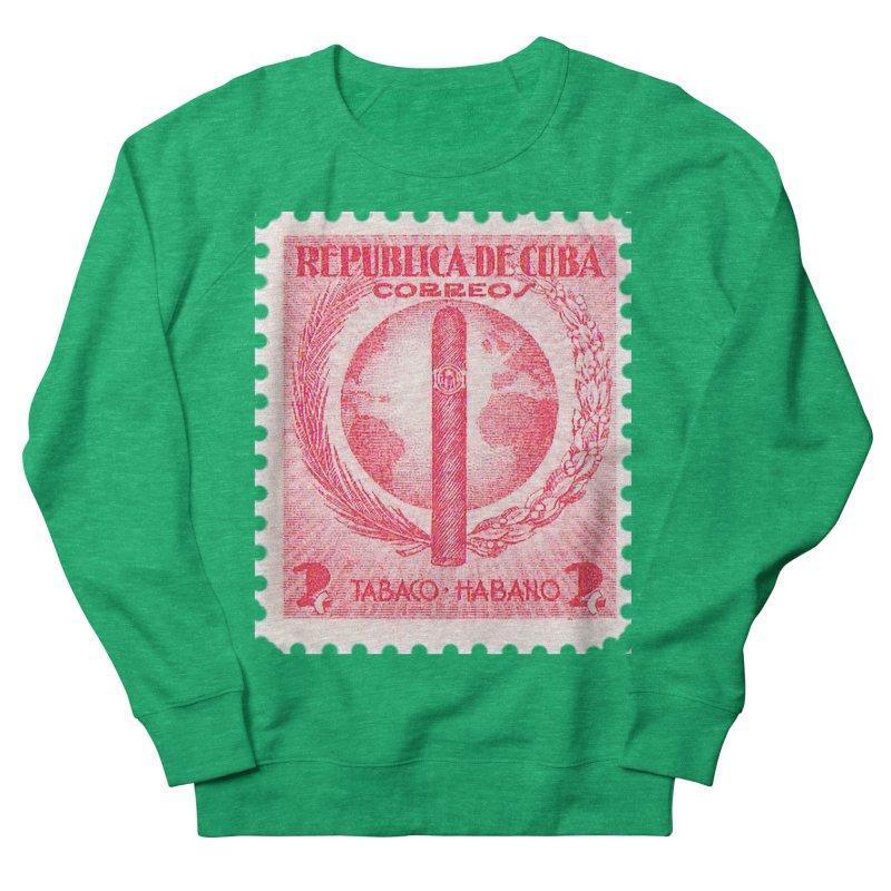 Cuba Vintage Stamp Art 1939  Women's Sweatshirt by The Cuba Travel Store Artist Shop
