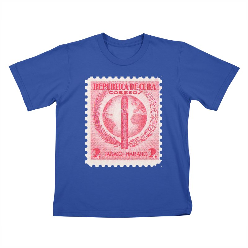 Cuba Vintage Stamp Art 1939  Kids T-Shirt by The Cuba Travel Store Artist Shop