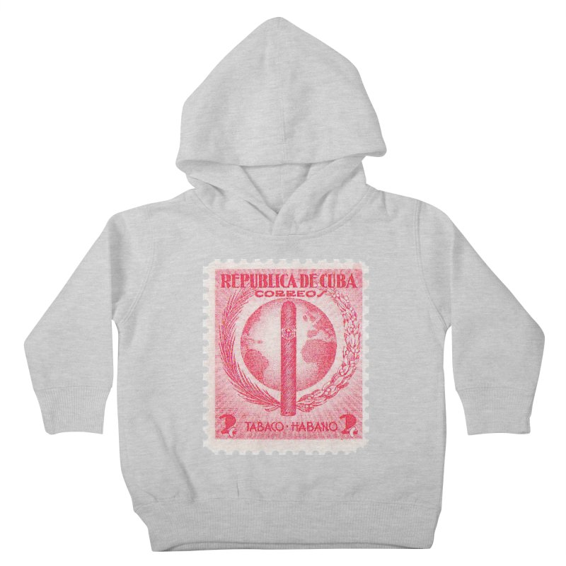 Cuba Vintage Stamp Art 1939  Kids Toddler Pullover Hoody by The Cuba Travel Store Artist Shop