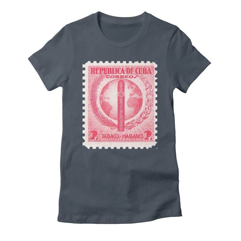Cuba Vintage Stamp Art 1939  Women's T-Shirt by The Cuba Travel Store Artist Shop