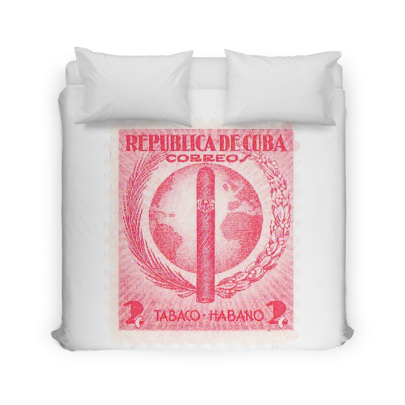 Cuba Vintage Stamp Art 1939  Home Duvet by The Cuba Travel Store Artist Shop