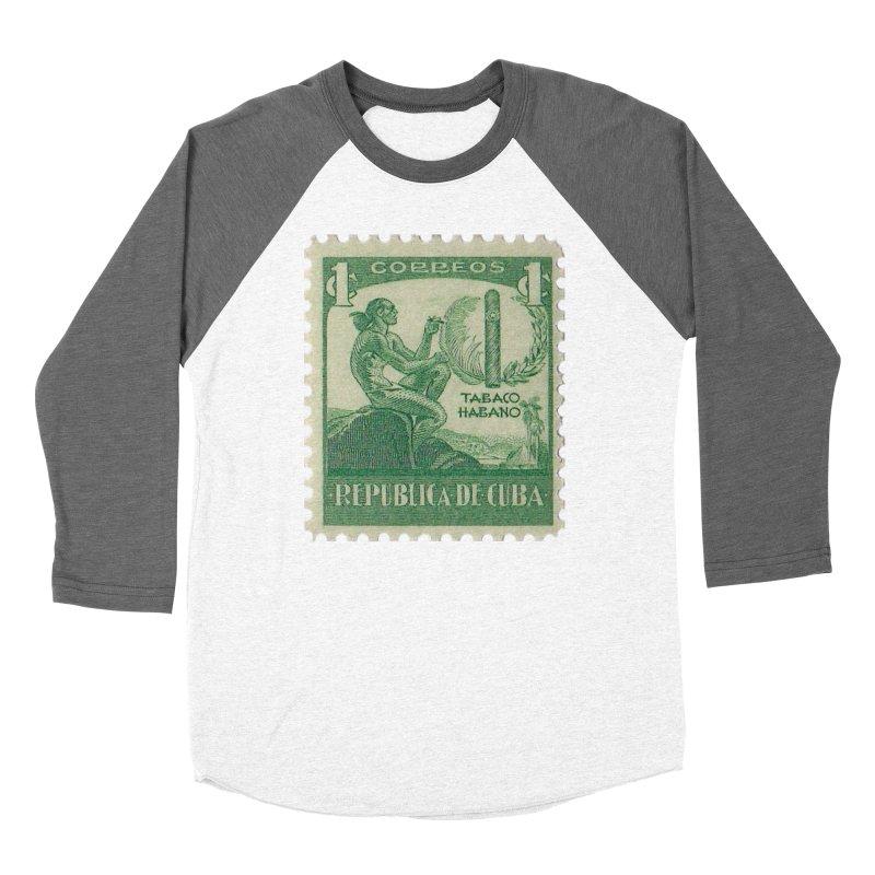 Cuba Vintage Stamp Art 1939 Women's Longsleeve T-Shirt by The Cuba Travel Store Artist Shop
