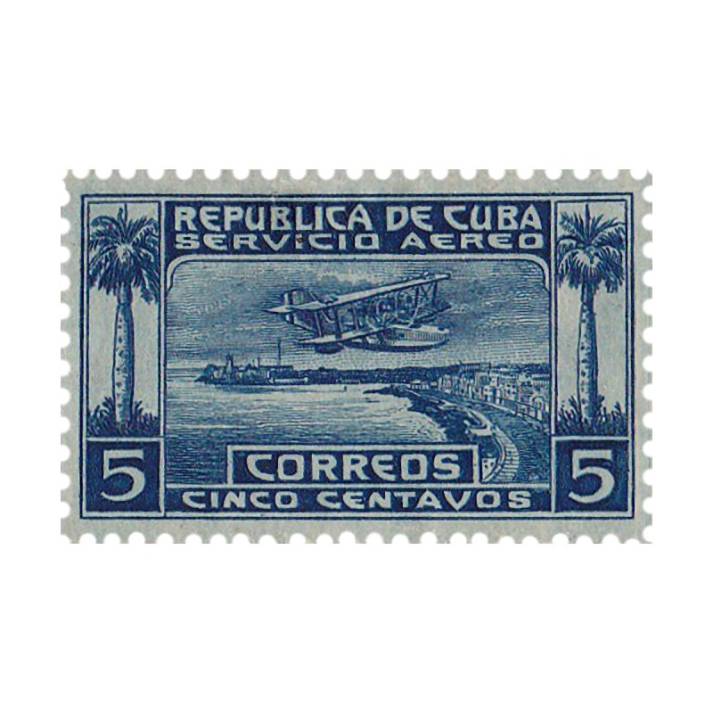 Cuba Vintage Stamp Art Home Stretched Canvas by The Cuba Travel Store Artist Shop