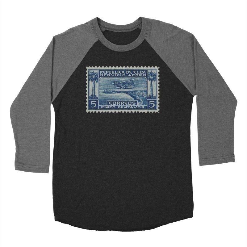 Cuba Vintage Stamp Art Women's Longsleeve T-Shirt by The Cuba Travel Store Artist Shop