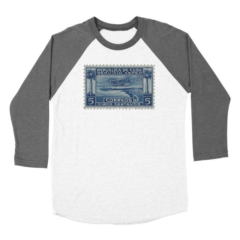 Cuba Vintage Stamp Art Men's Longsleeve T-Shirt by The Cuba Travel Store Artist Shop