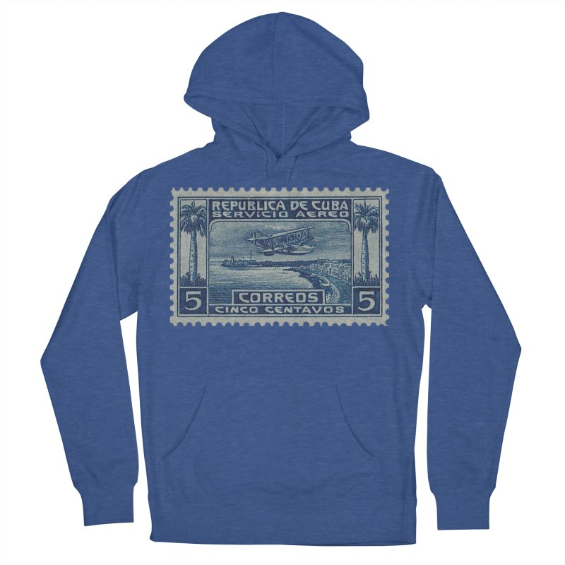 Cuba Vintage Stamp Art Women's French Terry Pullover Hoody by The Cuba Travel Store Artist Shop