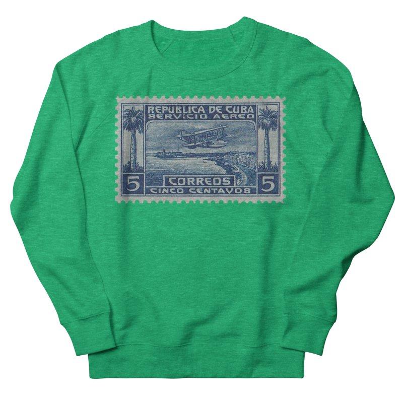 Cuba Vintage Stamp Art Women's Sweatshirt by The Cuba Travel Store Artist Shop