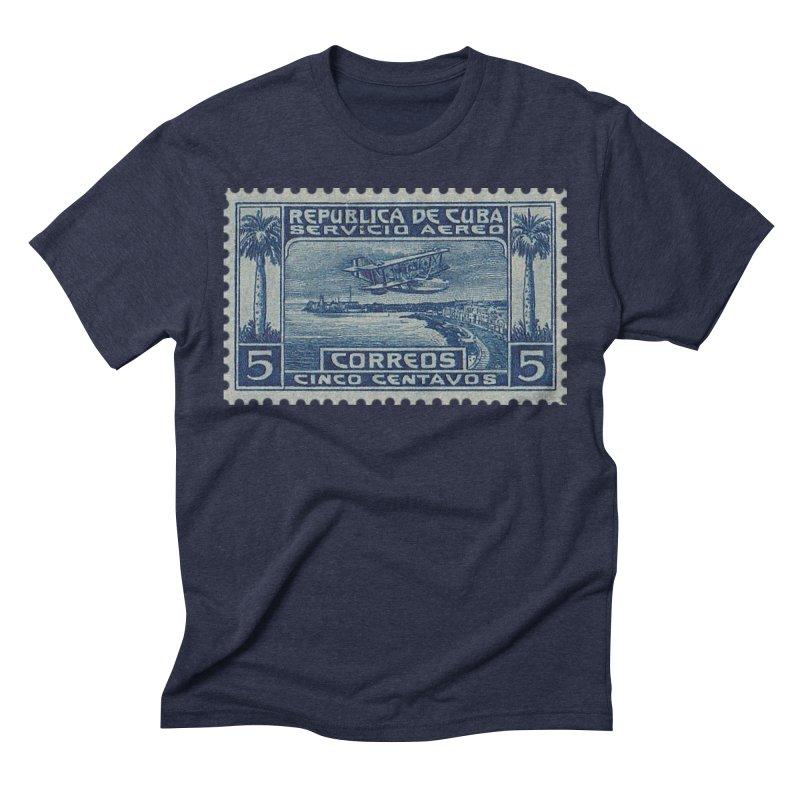 Cuba Vintage Stamp Art Men's T-Shirt by The Cuba Travel Store Artist Shop