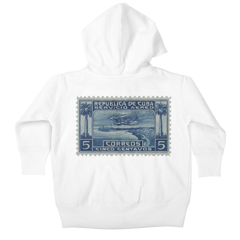 Cuba Vintage Stamp Art Kids Baby Zip-Up Hoody by The Cuba Travel Store Artist Shop